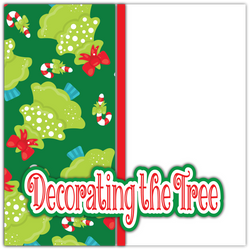 Decorating the Tree - Printed Premade Scrapbook Page 12x12 Layout