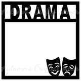 Drama - Scrapbook Page Overlay Die Cut - Choose a Color