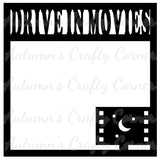 Drive In Movies - Scrapbook Page Overlay Die Cut - Choose a Color
