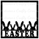 Easter - Bunny Ears - Scrapbook Page Overlay Die Cut - Choose a Color