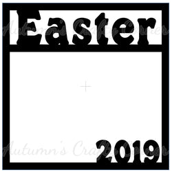 Easter 2019 - Scrapbook Page Overlay Die Cut - Choose a Color