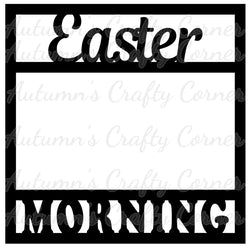 Easter Morning - Scrapbook Page Overlay Die Cut - Choose a Color