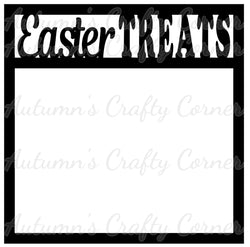Easter Treats - Scrapbook Page Overlay Die Cut - Choose a Color