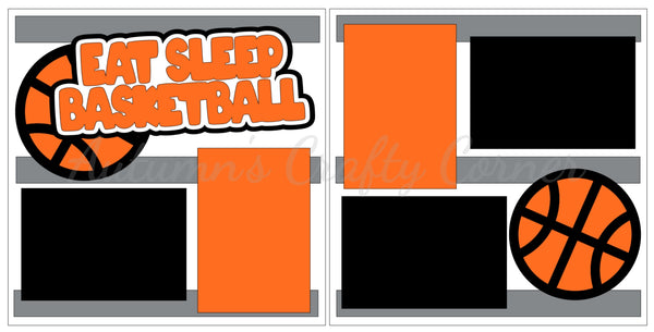 Eat Sleep Basketball - Scrapbook Page Kit
