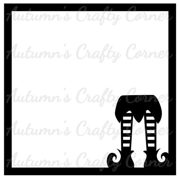 Elf Legs - Christmas - Scrapbook Page Overlay Die Cut - Choose a Color