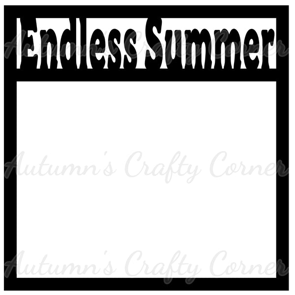 Endless Summer - Scrapbook Page Overlay Die Cut - Choose a Color