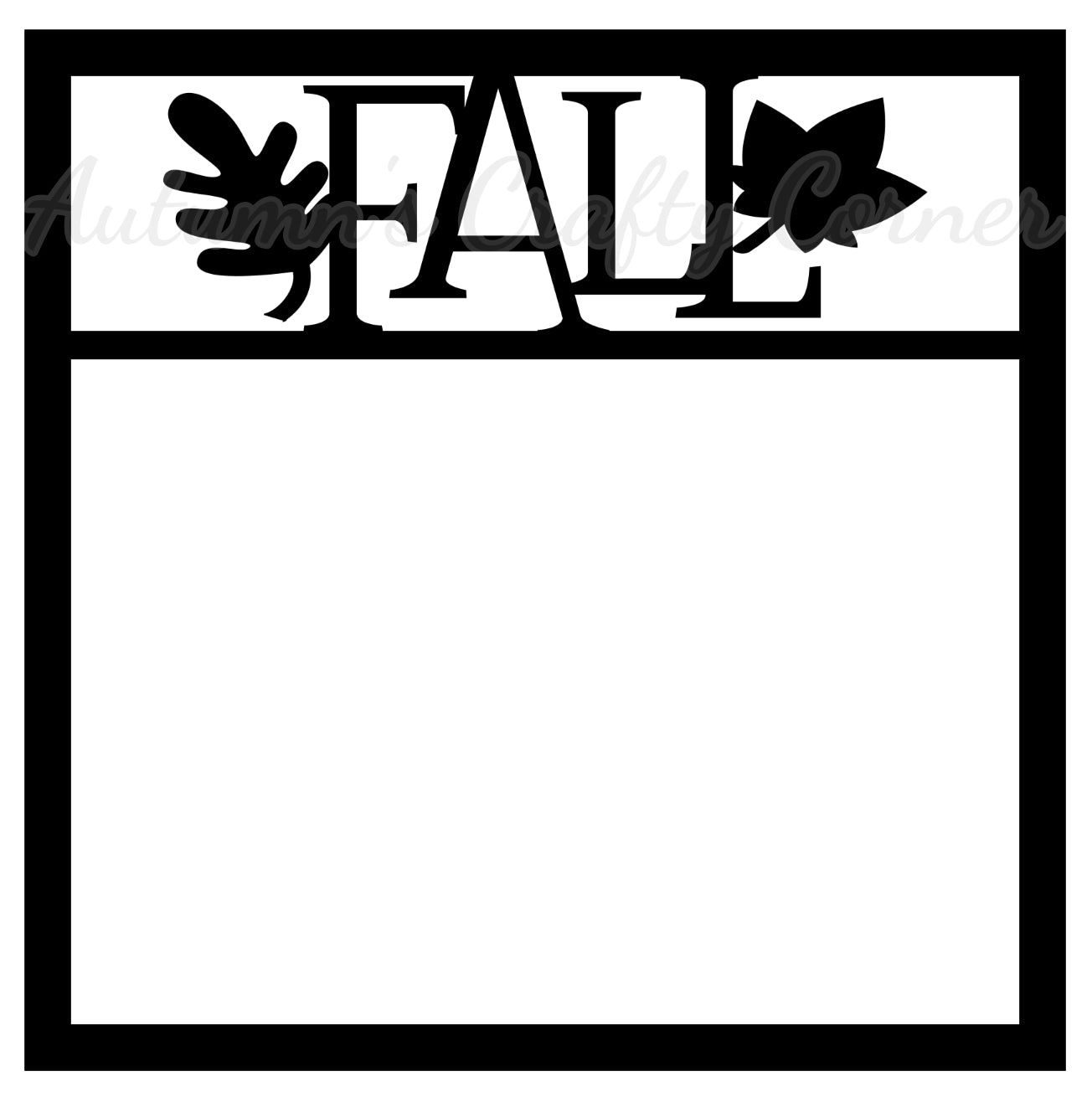 - Fall - Leaves - Scrapbook Page Overlay Die Cut - Choose A Color