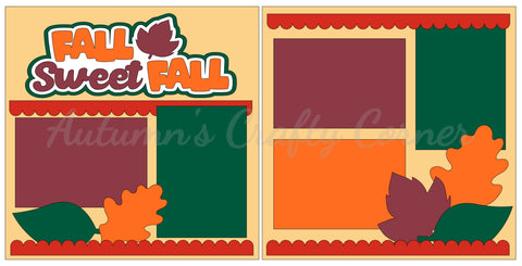 Fall Sweet Fall - Scrapbook Page Kit
