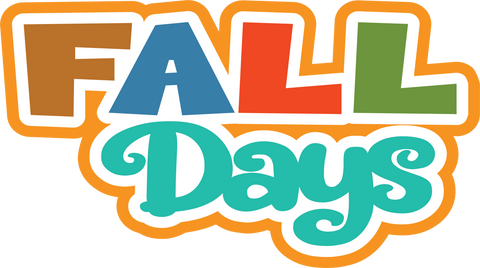 Fall Days - Scrapbook Page Title Sticker
