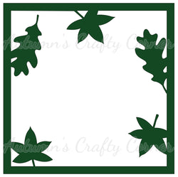Falling Leaves - Scrapbook Page Overlay Die Cut - Choose a Color