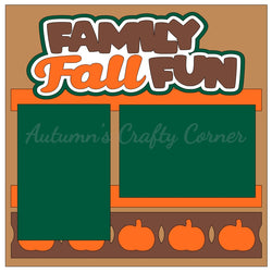 Family Fall Fun - Single Scrapbook Page Kit