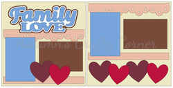 Family Love - Scrapbook Page Kit