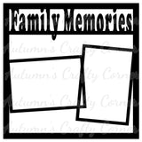 Family Memories - 2 Frames - Scrapbook Page Overlay Die Cut - Choose a Color