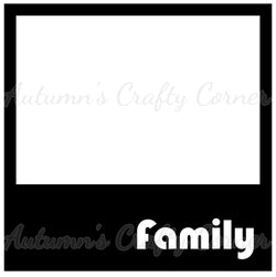 Family - Polaroid - Scrapbook Page Overlay Die Cut - Choose a Color