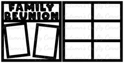Family Reunion - Scrapbook Page Overlay Set - Choose a Color