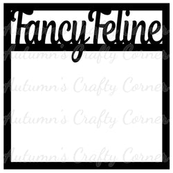 Fancy Feline - Cat - Scrapbook Page Overlay Die Cut - Choose a Color