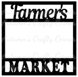 Farmer's Market - Scrapbook Page Overlay Die Cut - Choose a Color
