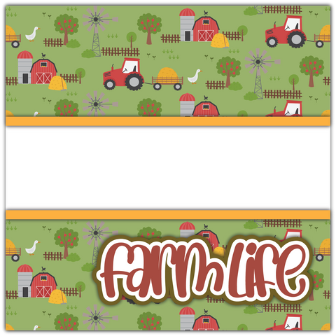 Farm Life - Printed Premade Scrapbook Page 12x12 Layout
