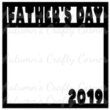 Father's Day 2019 - Scrapbook Page Overlay Die Cut - Choose a Color