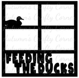 Feeding the Ducks - 4 Frames - Scrapbook Page Overlay Die Cut - Choose a Color