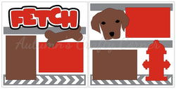 Fetch - Dog - Puppy - Scrapbook Page Kit