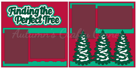 Finding the Perfect Tree - Scrapbook Page Kit