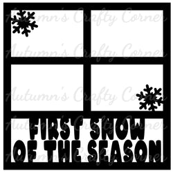 First Snow of the Season - 4 Frames - Scrapbook Page Overlay Die Cut - Choose a Color