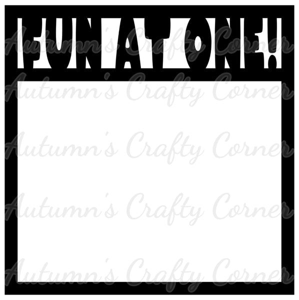 Fun at One! - Baby - Scrapbook Page Overlay Die Cut - Choose a Color