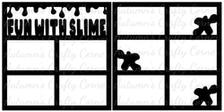 Fun with Slime - Scrapbook Page Overlay Set - Choose a Color