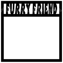 Furry Friend - Scrapbook Page Overlay Die Cut - Choose a Color