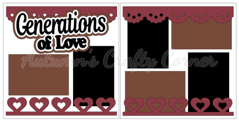 Generations of Love - Scrapbook Page Kit