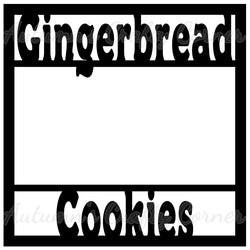 Gingerbread Cookies - Scrapbook Page Overlay Die Cut - Choose a Color