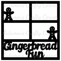 Gingerbread Fun - 4 Frames - Scrapbook Page Overlay Die Cut - Choose a Color