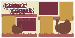 Gobble Gobble - Thanksgiving - Scrapbook Page Kit