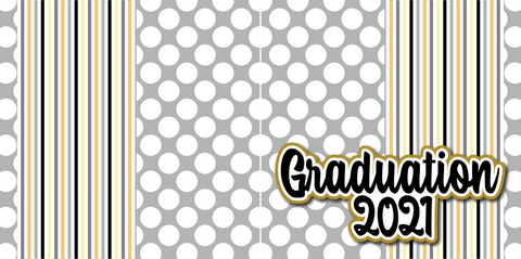 Graduation 2021 - Printed Premade Scrapbook (2) Page 12x12 Layout