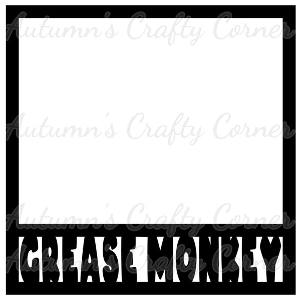 Grease Monkey - Cars - Scrapbook Page Overlay Die Cut - Choose a Color