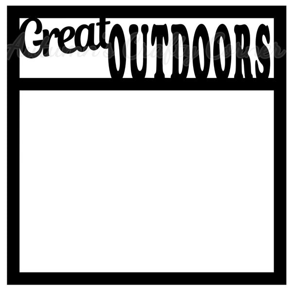 Great Outdoors - Scrapbook Page Overlay Die Cut - Choose a Color