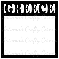 Greece - Scrapbook Page Overlay Die Cut - Choose a Color