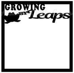 Growing by Leaps - Scrapbook Page Overlay Die Cut - Choose a Color