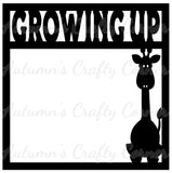 Growing Up -Giraffe - Scrapbook Page Overlay Die Cut - Choose a Color