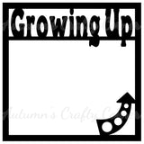 Growing Up - Scrapbook Page Overlay Die Cut - Choose a Color