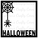 Halloween - Spider Web  - Scrapbook Page Overlay Die Cut - Choose a Color