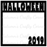 Halloween 2019 - Scrapbook Page Overlay Die Cut - Choose a Color
