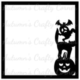 Halloween Characters - Scrapbook Page Overlay Die Cut - Choose a Color