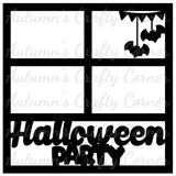 Halloween Party - 4 Frames - Scrapbook Page Overlay Die Cut - Choose a Color