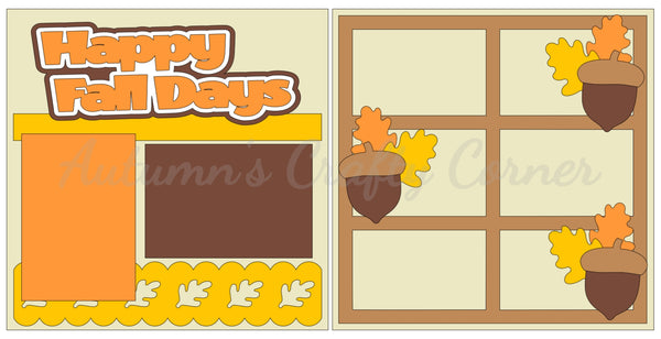 Happy Fall Days  - Scrapbook Page Kit