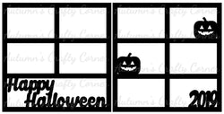 Happy Halloween  2019 - Scrapbook Page Overlay Set - Choose a Color