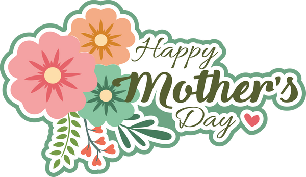Happy Mother's Day - Scrapbook Page Title Sticker