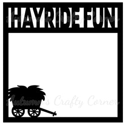 Hayride Fun - Scrapbook Page Overlay Die Cut - Choose a Color