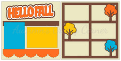 Hello Fall - Scrapbook Page Kit